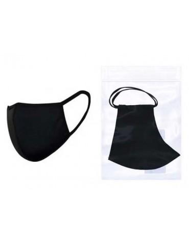 Masque de protection profilé en tissu Noir