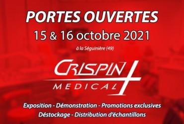Portes ouvertes Chez notre Distributeur  Crispin Médical - 15 et 16 octobre 2021